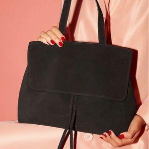 Mansur Gavriel Lady Bag - Black Suede, Full Size